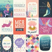 3X4 Journaling Card Paper - Mermaid Dreams - Echo Park