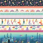 Border Strips Paper - Mermaid Dreams - Echo Park