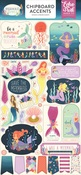 Mermaid Dreams Chipboard Accents - Echo Park