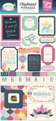 Mermaid Dreams Chipboard Phrases - Echo Park