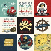 4X4 Journaling Cards Paper - Pirate Tales - Echo Park