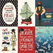 4X6 Journaling Cards Paper - Pirate Tales - Echo Park