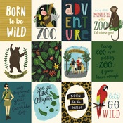 3x4 Journaling Cards Paper - Animal Safari - Echo Park