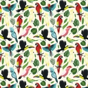 Birds Of Paradise Paper - Animal Safari - Echo Park