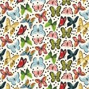 Butterfly Kisses Paper - Animal Safari - Echo Park