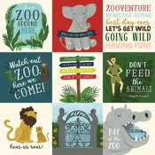 4x4 Journaling Cards Paper - Animal Safari - Echo Park
