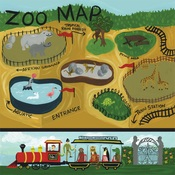 Zoo Map Paper - Animal Safari - Echo Park
