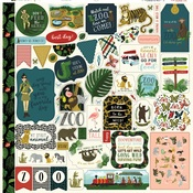 Animal Safari Element Sticker Sheet - Echo Park