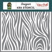 Zebra Stripe Stencil - Echo Park