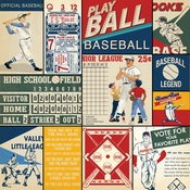 Multi Journaling Card Paper - Baseball - Carta Bella