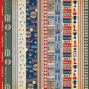 Border Strips Paper - Baseball - Carta Bella