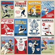 3x4 Journaling Cards Paper - Baseball - Carta Bella