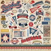 Baseball Element Sticker Sheet - Carta Bella