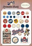 Baseball Decorative Brads - Carta Bella