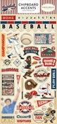 Baseball Chipboard Accents - Carta Bella