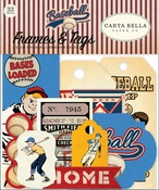 Baseball Frames & Tags - Carta Bella