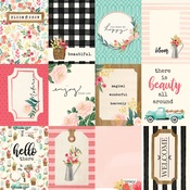 3X4 Journaling Cards Paper - Flower Market - Carta Bella