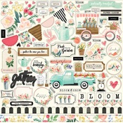 Flower Market Element Sticker - Carta Bella
