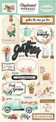 Flower Market Chipboard Phrases - Carta Bella