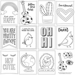 Free Bird Color Me Paper - Photoplay