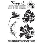 Paradise Found Clear Stamps - KaiserCraft