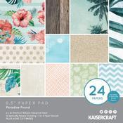 "Paradise Found Paper Pad 6.5""X6.5"" 40/Pkg - KaiserCraft"