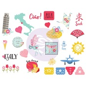 Traveling Girl Stickers - Prima