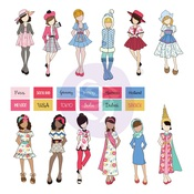 Traveling Girl Doll Ephemera - Prima