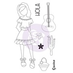 Traveling Girl Clear Stamp Set 1 - Prima
