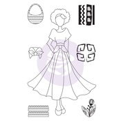 Traveling Girl Clear Stamp Set 2 - Prima