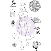 Traveling Girl Clear Stamp Set 3 - Prima
