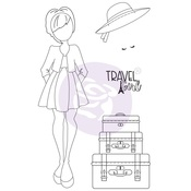 Traveling Girl Clear Stamp Set 4 - Prima
