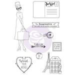 Traveling Girl Clear Stamp Set 5 - Prima