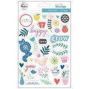 Puffy Stickers - Everyday Musings - Pinkfresh Studio