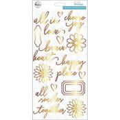 Gold Puffy Accent Stickers - Everyday Musings - Pinkfresh Studio