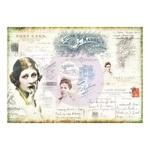 Finnabair Tissue Paper Carte Postale - Prima