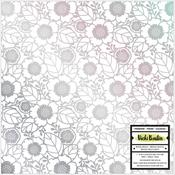 Flowers With Silver Holographic Foil Paper - Color Kaleidoscope - Vicki Boutin