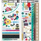 Color Kaleidoscope Accents & Phrase Stickers - Vicki Boutin