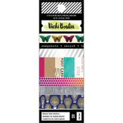 Color Kaleidoscope Washi Silver Holographic Foil Accents - Vicki Boutin