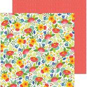Fiesta Flowers Paper - Chasing Adventures - Pebbles