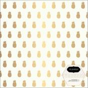 Pineapple With Gold Foil Accents Paper - Chasing Adventures - Pebbles