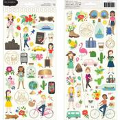 Chasing Adventures Cardstock Stickers - Pebbles