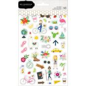 Chasing Adventures Clear Stickers - Pebbles