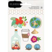 Chasing Adventures Layered Stickers - Pebbles