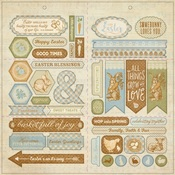 Abundant Elements Cardstock Punch Out Die Cuts - Authentique