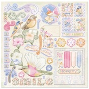 Harmony Chipboard Pieces - Bo Bunny
