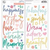 Joyful Day Puffy Stickers - Pinkfresh