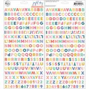 Mini Alpha Joyful Day Puffy Stickers - Pinkfresh