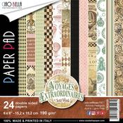 Voyages Extraordinaires 6 x 6 Double-Sided Paper Pad