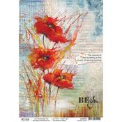 Poppies Dance A4 Rice Paper Sheet